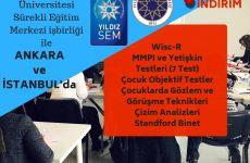 Yıldız Teknik Ünv işbirliği ile Testler Programı